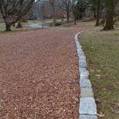 Etablering med med knust tegl eller knust beton