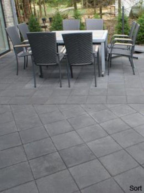 Billige betonfliser 40x40, bondesten og herregårdssten.