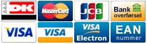 Køb Sten og Grus eller Granitskæver online og betal med disse kreditkort